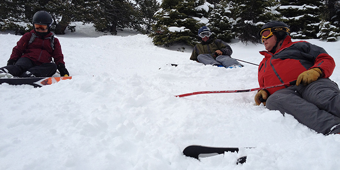 You ski so hard on Jackson Hole's Steep & Deep that even the instructors get tired.
