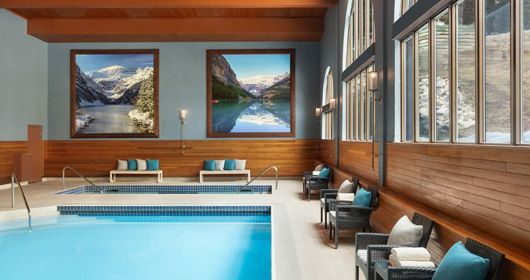 Indoor pool and hot tub to enjoy after a day on the slopes. Photo: Fairmont Chateau Lake Louise - image_6