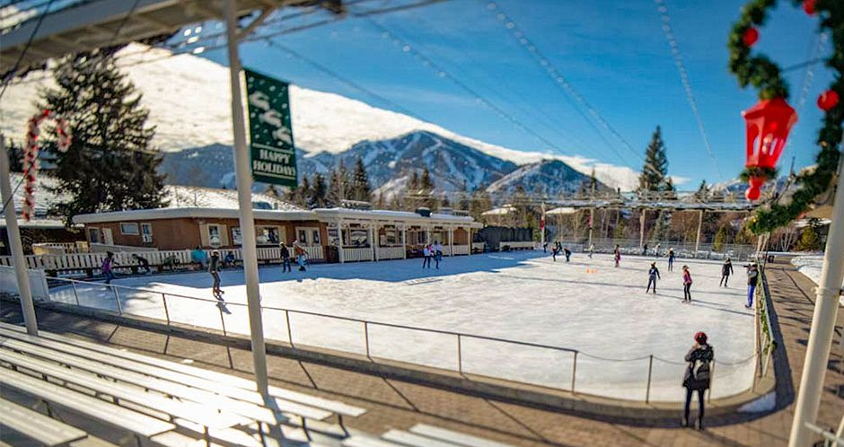 The ice skating rink outside the Sun Valley Lodge. - image_4