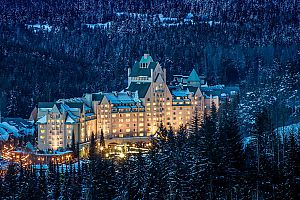 Winter wonderland at the Fairmont Chateau Whistler.