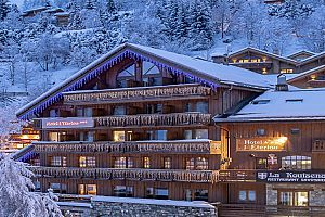 Family friendly hotel in Meribel. Photo: Hotel L\'Eterlou