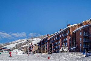 Unbeatable ski-in ski-out location on the slopes of Steamboat ski resort. Photo: Bear Claw Condominiums