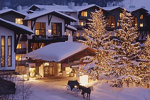 Wonderful winter hotel in the heart of Vail Village.