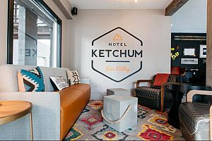 Wonderfully contemporary style featured throughout the hotel. Photo: Hotel Ketchum
