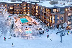 Fantastic ski-in ski-out access on the slopes of Canyons.