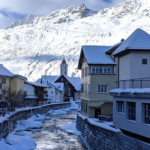 Andermatt\'s old village. Photo: Scout