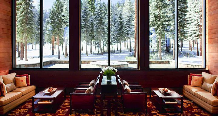 The forested areas surrounding the hotel offer a peaceful and secluded experience. Photo: Ritz-Carlton Lake Tahoe - image_2