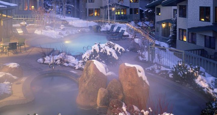 Enjoy the outdoor hot tubs and pools after a day on the slopes. Photo: Two Roads Hospitality - image_1