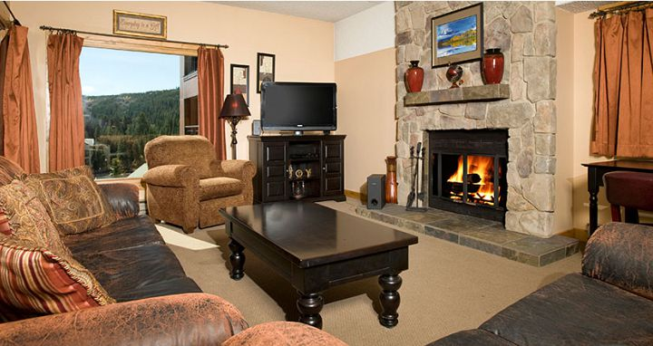 Well equipped condos with spacious living areas are fireplaces. - image_4