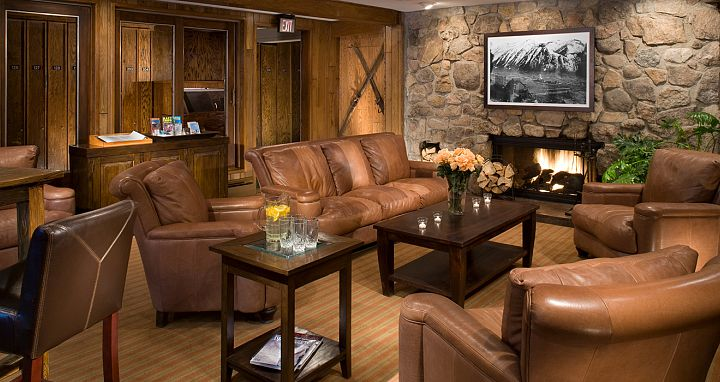 Oozing with modern mountain decor, enjoy some quiet time by the lobby fireplace. Photo: Molly Gibson Lodge - image_3