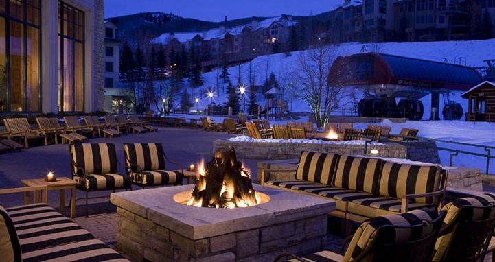 Put your feet up and enjoy sunset apres ski sessions. Photo: Park Hyatt Beaver Creek - image_6
