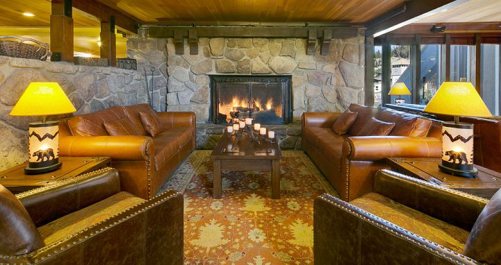 Nice and warm fireplaces to snuggle around. Photo: Mammoth Mountain Inn - image_2
