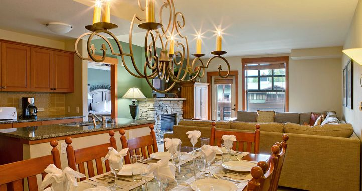 Well-equipped kitchen and dining areas for a self-catered stay. Photo: The Village Lodge - image_7