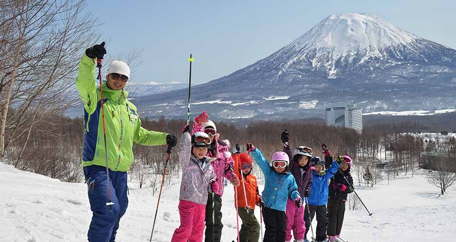 Ski lesson in Niseko. Photo: Niseko Village
