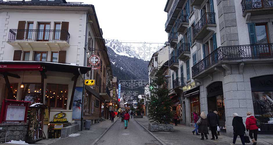 Downtown Chamonix. Photo: Scout